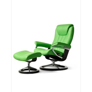 Ekornes Stressless Blish signature base recliner in lime green