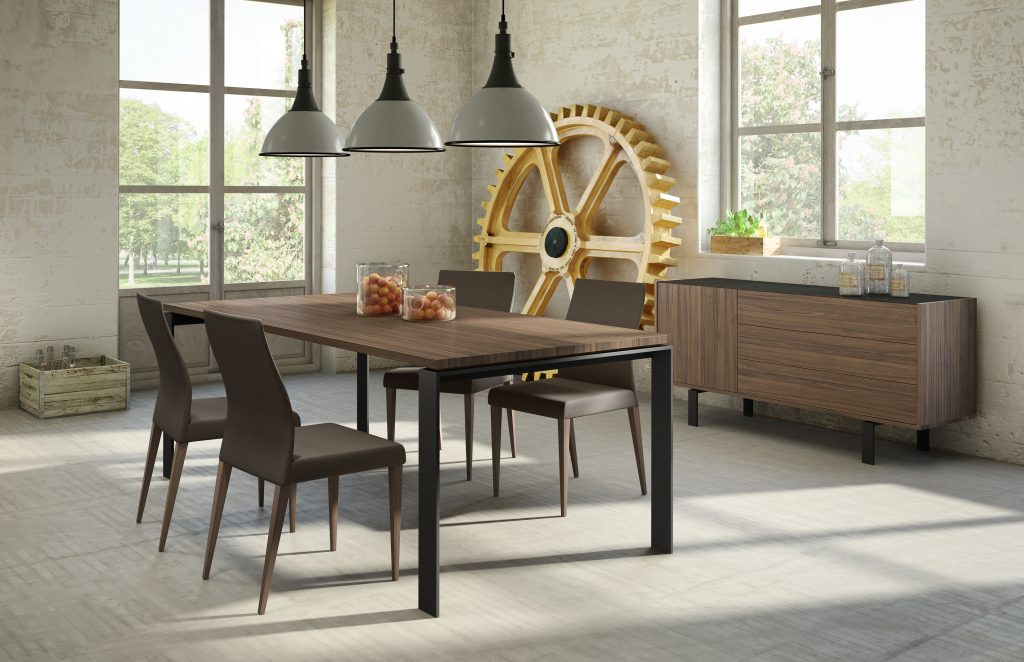 Mobican dining set contemporary Danish design teak wood