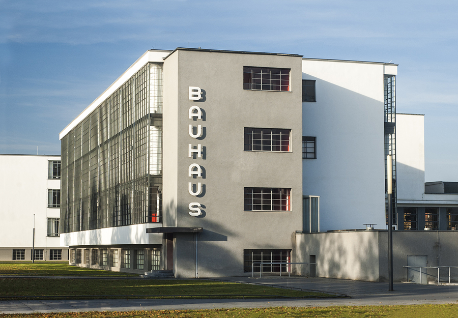 Dessau, Saxony-Anhalt, Germany - October 26, 2015: Bauhaus - iconical masterpiece of modern architecture designed in 1925 by Walter Gropius.